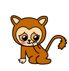 Fuerza animal Facebook sticker #36