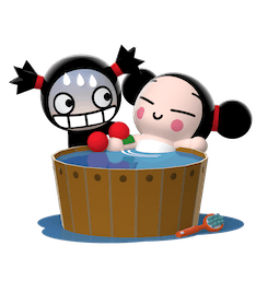 Stickers de Facebook Bisou, Amour, Pucca