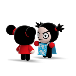 Kiss, Love, Pucca Facebook sticker #7