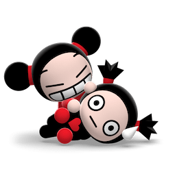 Kiss, Love, Pucca Facebook sticker #9