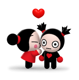 Kiss, Love, Pucca Facebook sticker #14