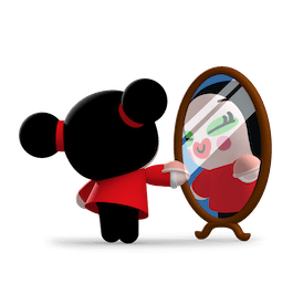 Kiss, Love, Pucca Facebook sticker #16