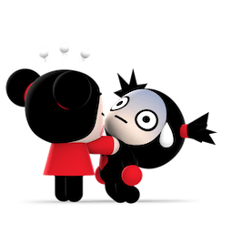 Kiss, Love, Pucca Facebook sticker #17