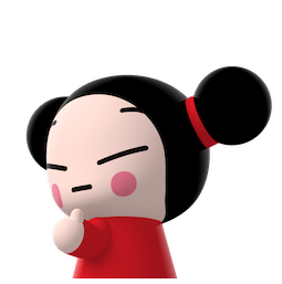 Kiss, Love, Pucca Facebook sticker #19