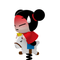 Kiss, Love, Pucca Facebook sticker #21