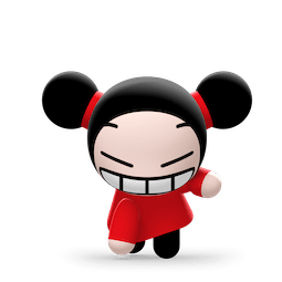 Kiss, Love, Pucca Facebook sticker #24