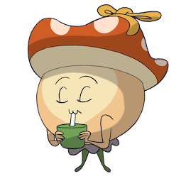 Little Mushroom and Chubby Wolf Facebook sticker #7