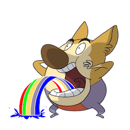 Little Mushroom and Chubby Wolf Facebook sticker #10