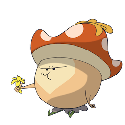 Little Mushroom and Chubby Wolf Facebook sticker #16