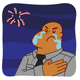 Man Tears Facebook sticker #10