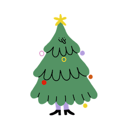 Merry and Bright Facebook sticker #2
