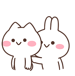 Mimi and Neko Together Facebook sticker #6