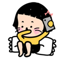 Mobile Girl, MiM Facebook sticker #2