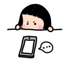 Mobile Girl, MiM Facebook sticker #7
