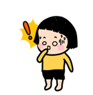 Mobile Girl, MiM Facebook sticker #39