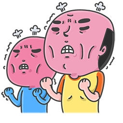 Facebook / Messenger sticker Mr. Baldy & seine Freunde #1