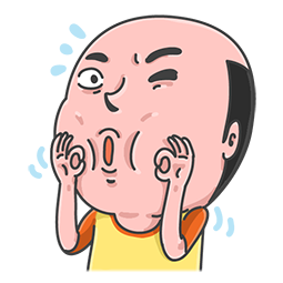 Facebook / Messenger sticker Mr. Baldy & seine Freunde #11