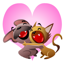 Mugsy In Love Facebook sticker #2