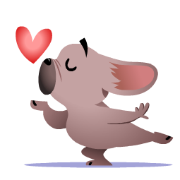 Mugsy In Love Facebook sticker #3