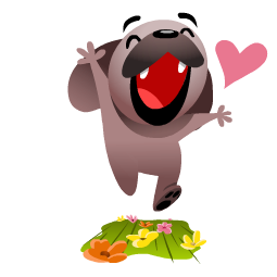 Mugsy In Love Facebook sticker #7