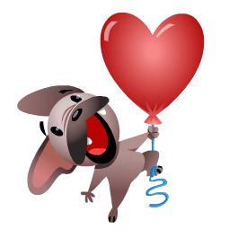 Mugsy In Love Facebook sticker #10