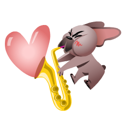 Mugsy In Love Facebook sticker #11