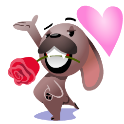 Mugsy In Love Facebook sticker #12