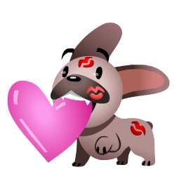 Mugsy In Love Facebook sticker #14