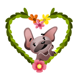 Mugsy In Love Facebook sticker #16
