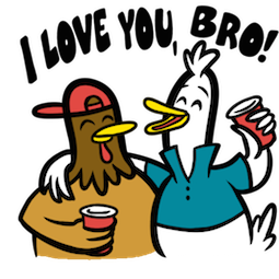 Party Fowls Facebook sticker #4