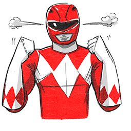 Power Rangers Facebook sticker #1