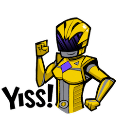 Facebook Power Rangers Movie stickers