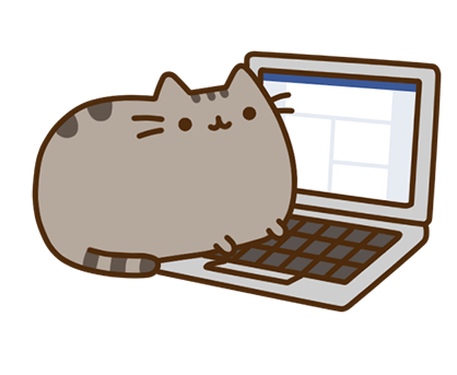Pusheen Facebook sticker #12