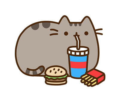 Pusheen Facebook sticker #17