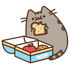 Stickers de Facebook Pusheen Eats