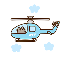 Pusheen Eats Facebook sticker #4