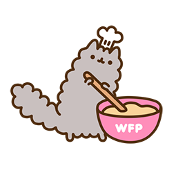Pusheen Eats Facebook sticker #6