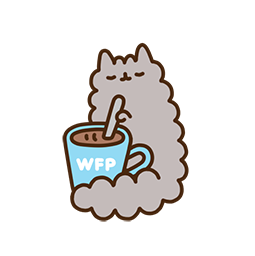 Pusheen Eats Facebook sticker #10