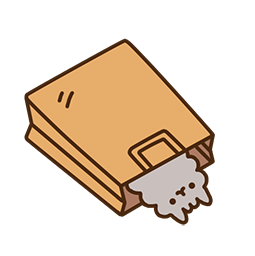 Pusheen Eats Facebook sticker #13