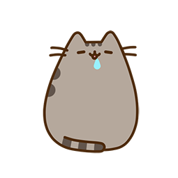 Pusheen Eats Facebook sticker #15