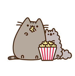 Pusheen Eats Facebook sticker #16
