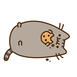 Pusheen Eats Facebook sticker #17