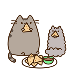 Pusheen Eats Facebook sticker #18