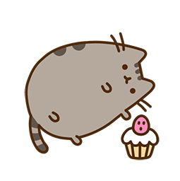 Pusheen Eats Facebook sticker #19