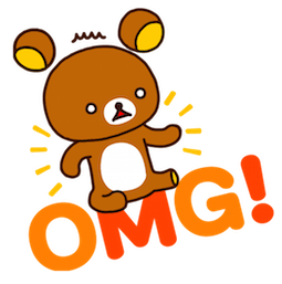 Sticker de Facebook / Messenger Rilakkuma #11