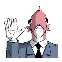 Ersthafter Business Fish Facebook sticker #6