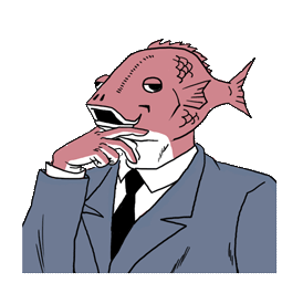 Ersthafter Business Fish Facebook sticker #16
