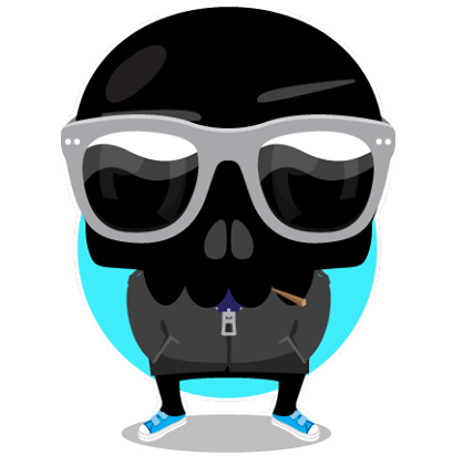 Skullington Facebook sticker #14