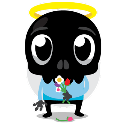 Skullington Facebook sticker #15