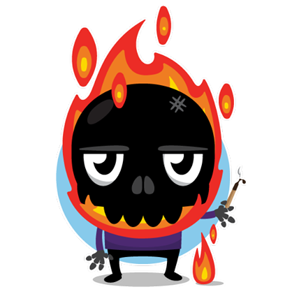 Skullington Facebook sticker #20